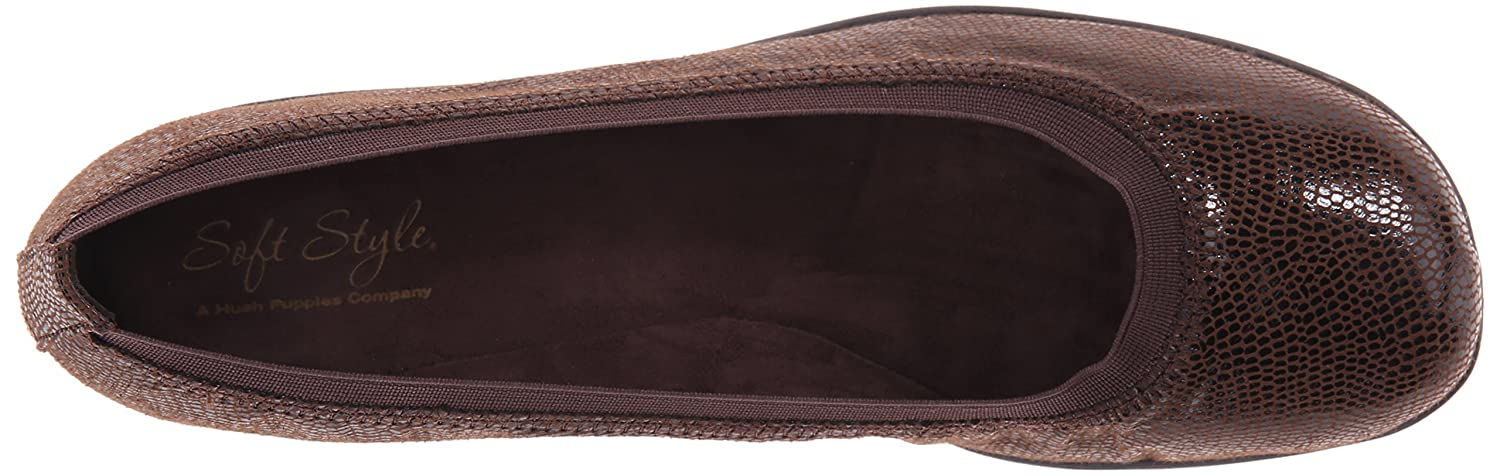 Soft Style by Hush Puppies Women's Rogan US|Dark Flat B00S41LS1C 6.5 XW US|Dark Rogan Brown Lizard 6c5f0f