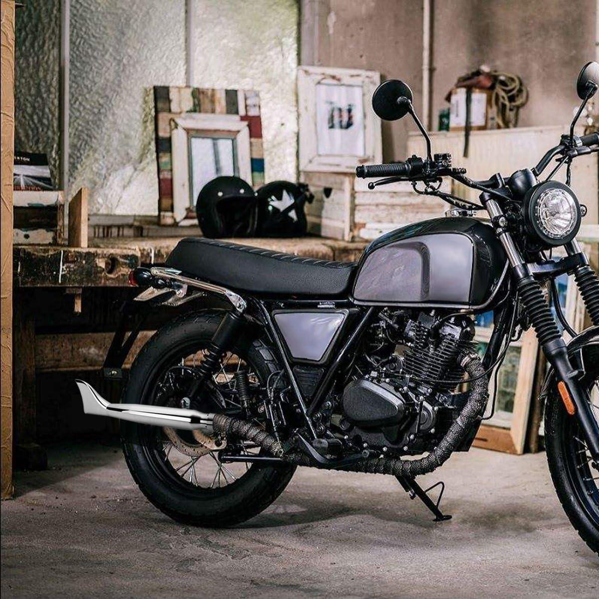 Universel Moto Fin D/échappement Tuyau Silencieux Silencieux