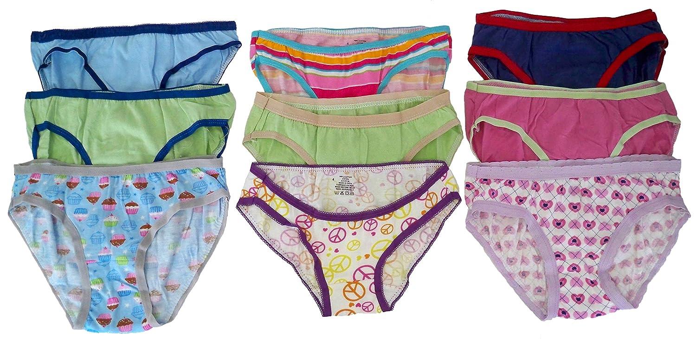 Girls Soft 100/% Cotton Panties 6//9//12//15//18 Pack