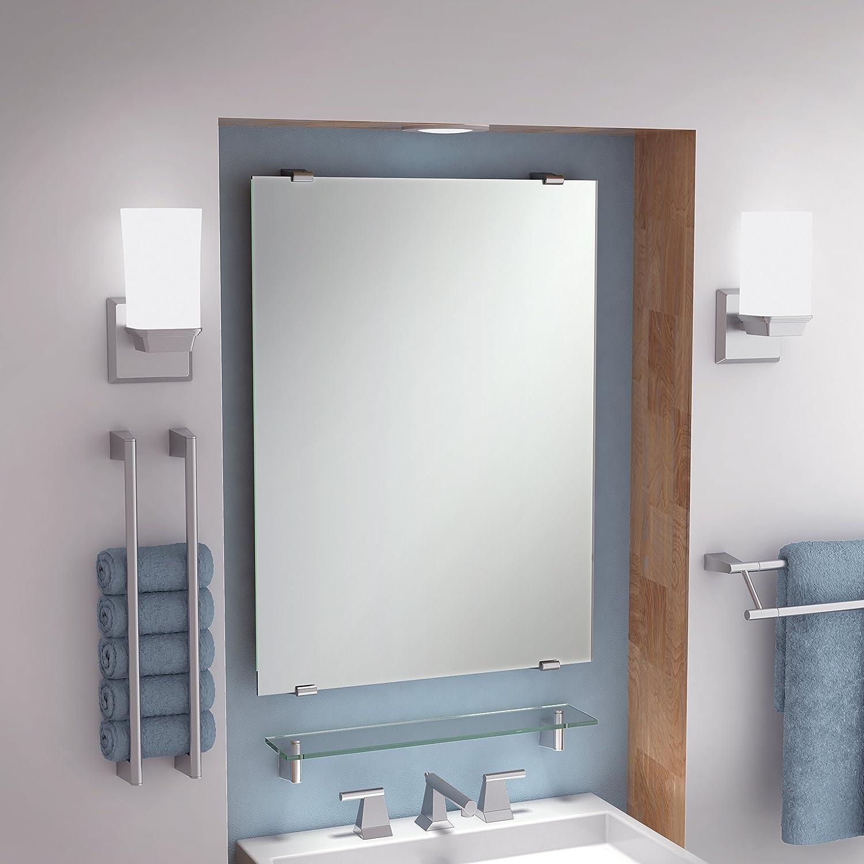 Gatco 4389S Bleu Rectangle Wall Mirror Satin Nickel