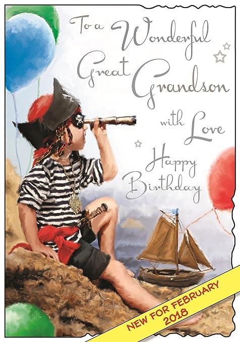 Tarjeta de cumpleaños ilustrada para nieto - (JJ3568 ...