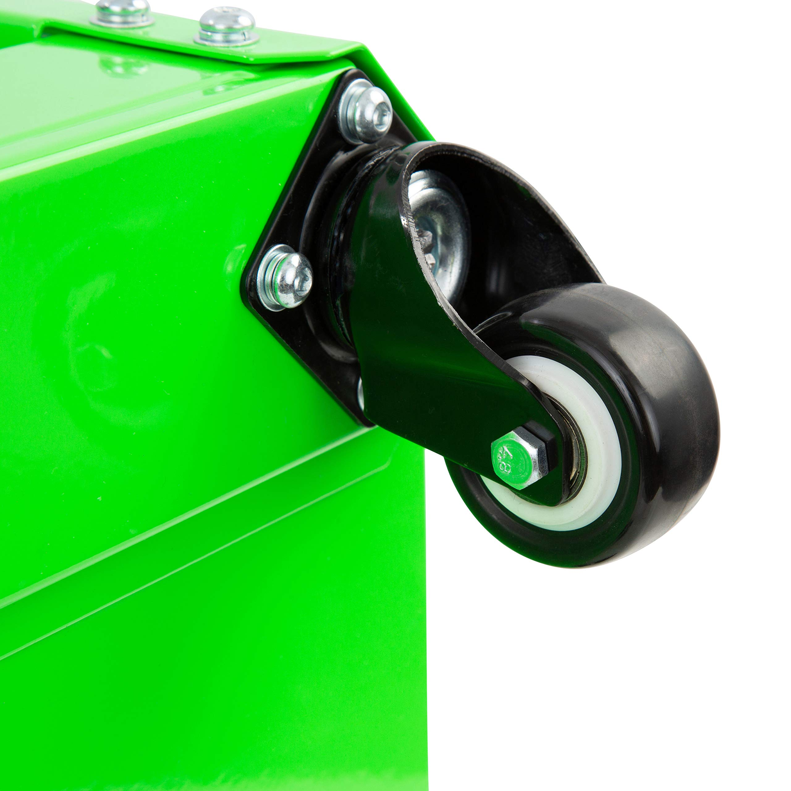 OEMTOOL 24993 Green Rolling Workshop Creeper Seat with 2 Tool Storage Drawers Under Seat Storage Can Holders by OEMTOOLS (Image #6)