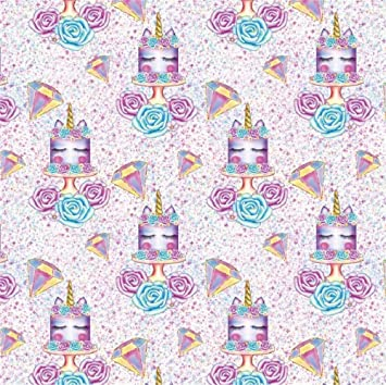Laeacco Cartoon Unicorn Birthday Cake Backdrop 5x5ft Vinyl Purple Diamond Flower Photography Background Studio