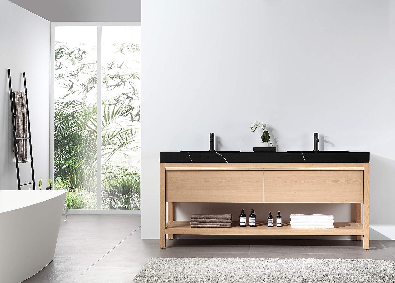 Amazon Com Bibury 72 Whitewash Oak Free Standing Modern Bathroom Vanity Kitchen Dining