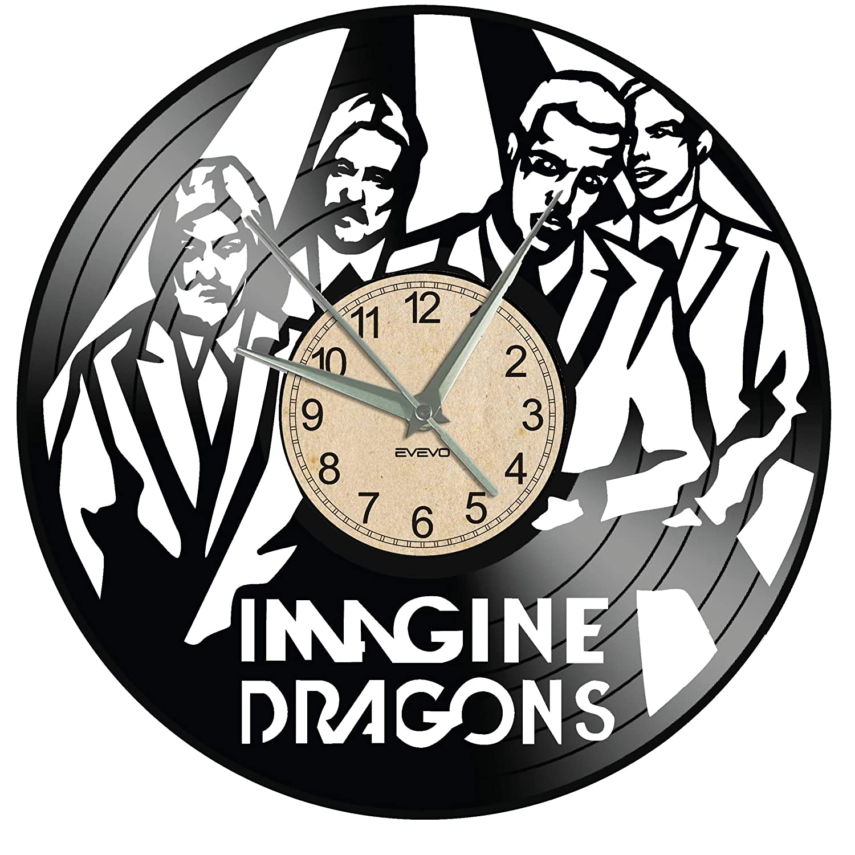 EVEVO Imagine Dragons - Reloj de Pared de Vinilo, diseño ...