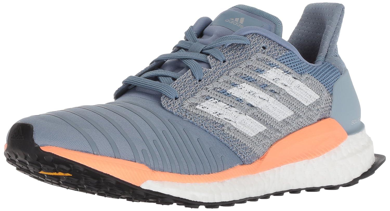 adidas Women's Solar Boost Running Shoe B0778Y6LSC 5 B(M) US|Raw Grey/White/Chalk Coral