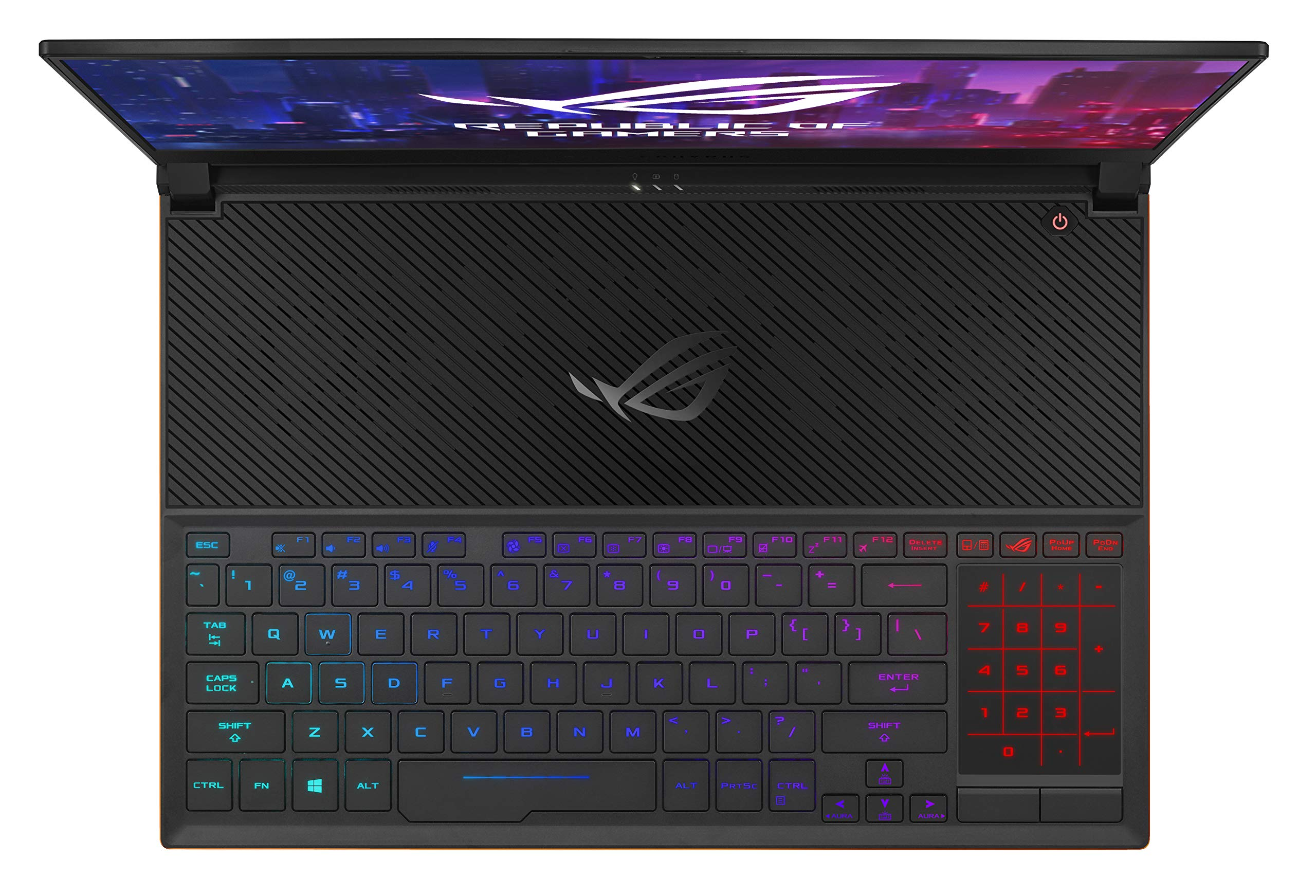"ASUS ROG Zephyrus S Ultra Slim Gaming Laptop, 15.6"" 144Hz IPS Type FHD, GeForce RTX 2070, Intel Core i7-8750H, 16GB DDR4, 512GB PCIe NVMe SSD, Aura Sync RGB, Windows 10 64-bit, GX531GW-AS76 .62"" Thin by ASUS (Image #3)"