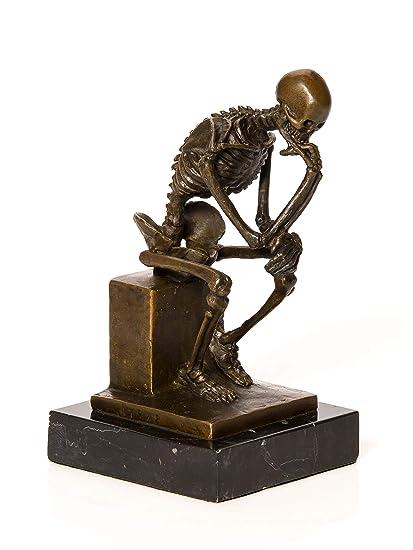 Prod--Buy Limited Standing 32cm Bronzed Resin Wild Rhinoceros Ornament Decorative Figure Sculpture