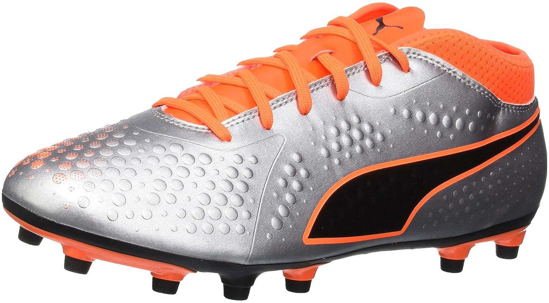 Puma One 4 Syn FG, Zapatillas de Fútbol para Hombre 44 EU|Plateado (Puma Silver-shocking Orange-puma Black 01)