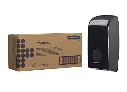 Aquarius 7172 Dispensador de Papel Higiénico Plegado, Negro