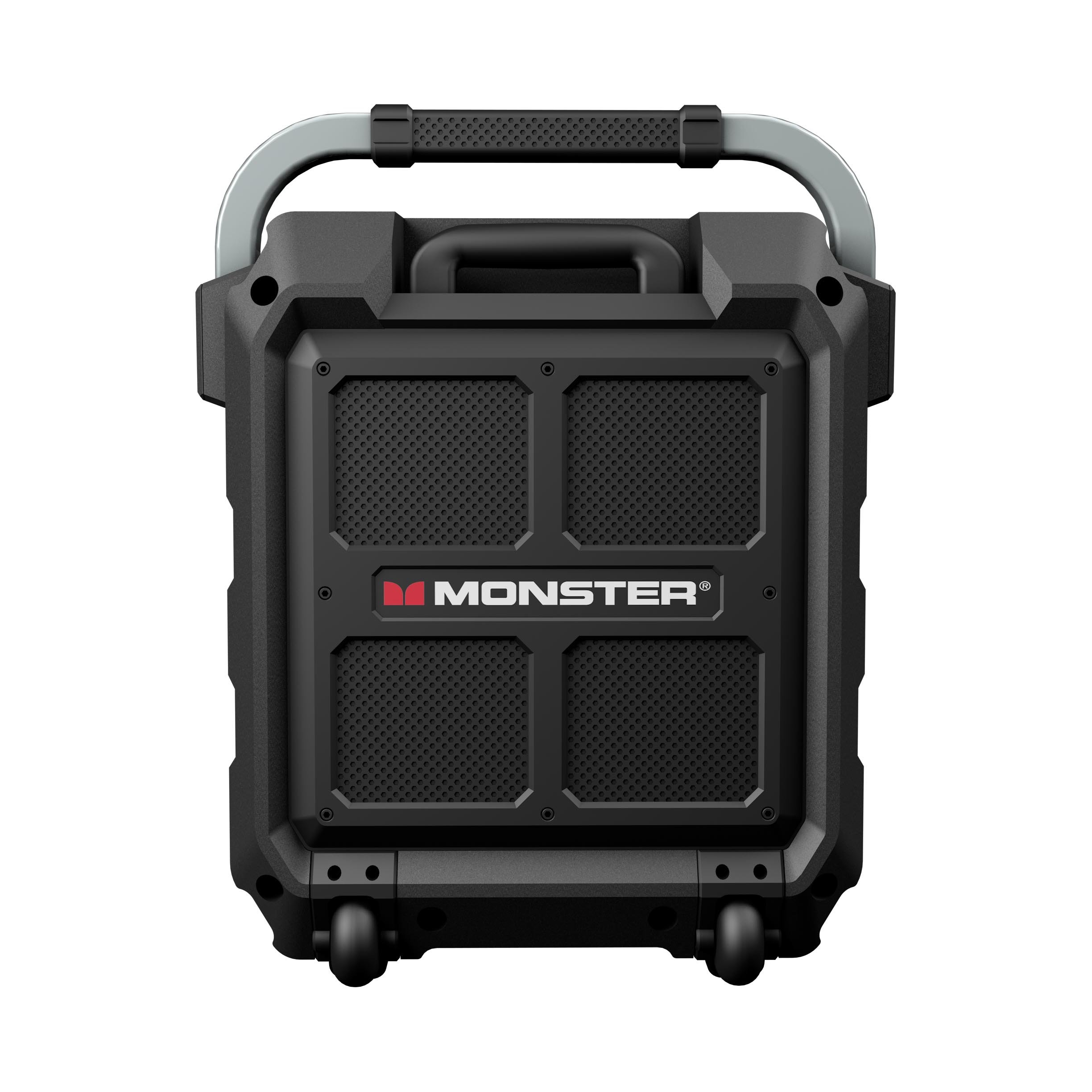 Monster Rockin' Roller 2 | 80 Watts, 100 Hour High Performance Water Resistant Outdoor/Indoor Wireless Bluetooth Speaker, Night View LED (Black) by Monster