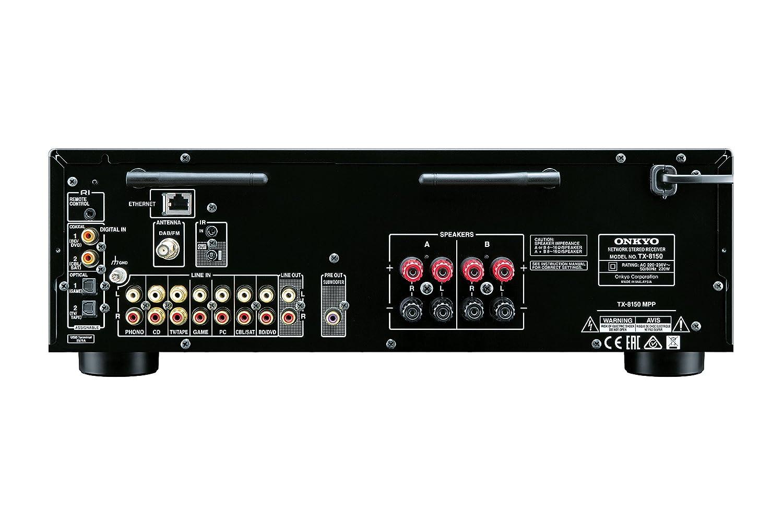 Onkyo TX-8150-S - Receptor estéreo de red (150 W por canal, DAC 384 kHz/32 Bit, WiFi, Bluetooth) color plata: Amazon.es: Electrónica