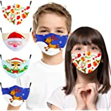 Kids Face Masks Washable, Reusable Breathable Cloth Face Mask Designer, Adjustable Cute Cotton Face Covering with Ear Loops f
