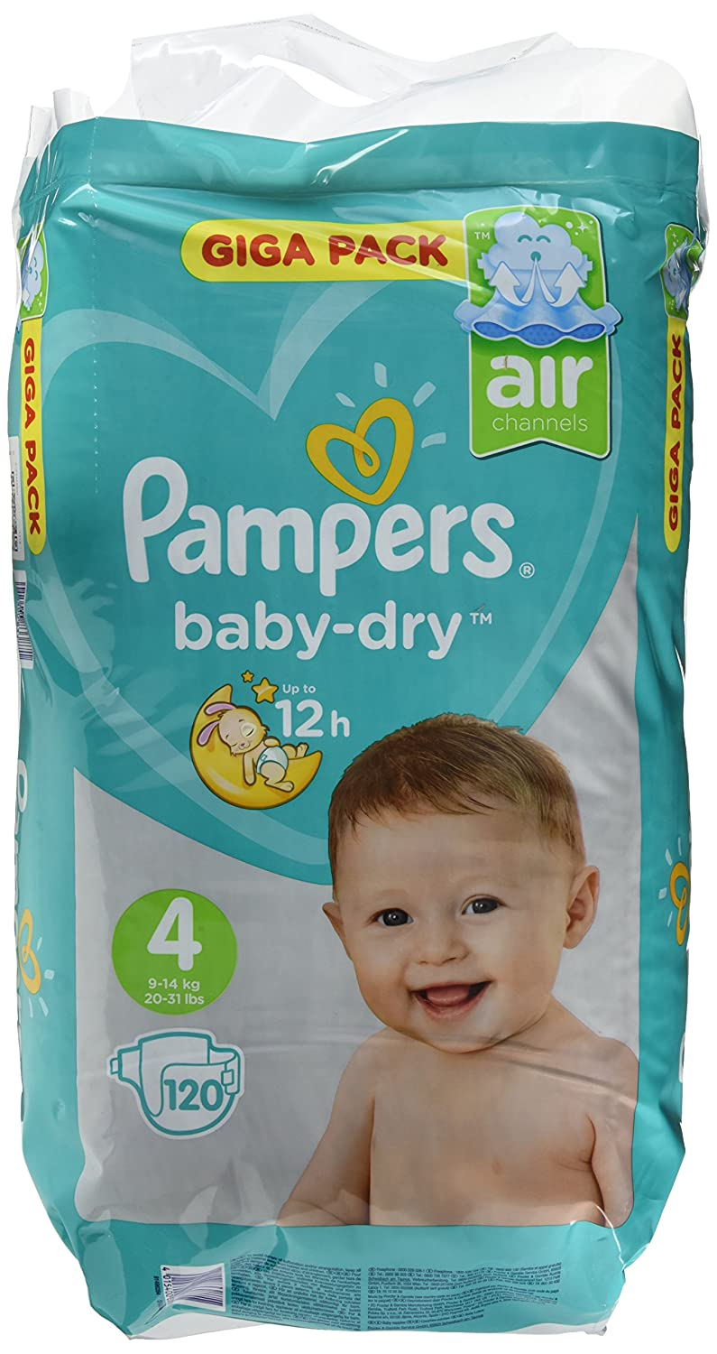 120 Giga Pack X 3 Pampers Baby-Dry Nappies Size 4