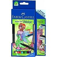 Faber-Castell 5188114482 Art Grip Aquarell Anime, Art Fairies, 8 Renk