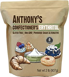 product image for Anthony's Confectioner's Erythritol, 2 lb, Non GMO, Natural Sweetener, Zero Calorie, Keto & Paleo Friendly