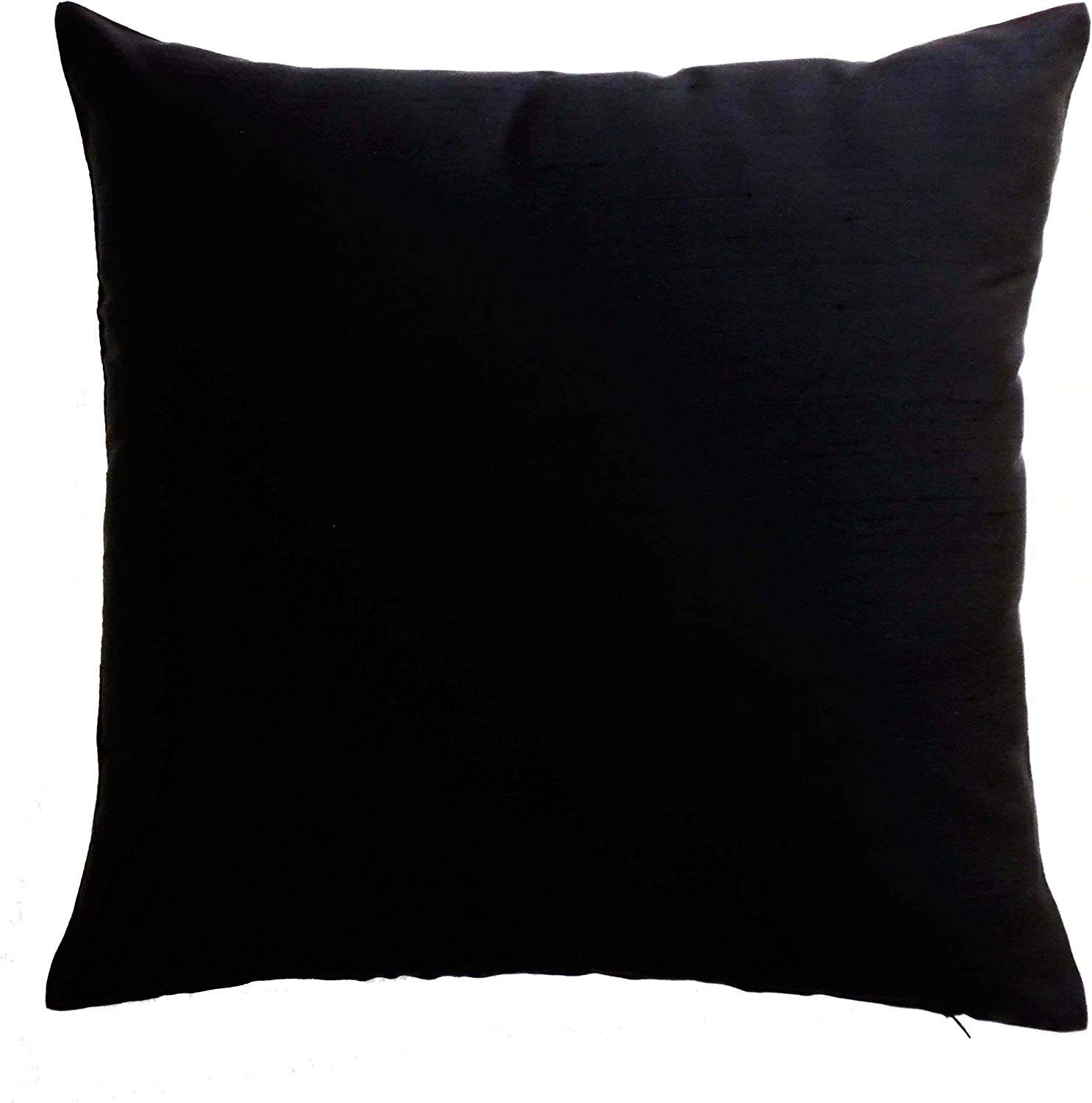 Home Decorative Dupion Silk Cushion Solid Pillow Throw Cover Choose Size