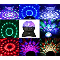 ALED LIGHT Bluetooth Stage Lights Rotating Magic Effect Disco Ball Light with Wireless Bluetooth Speaker Mini Card Slot Rotating For KTV Xmas Party Club Pub Disco DJ Wireless Bluetooth Speaker