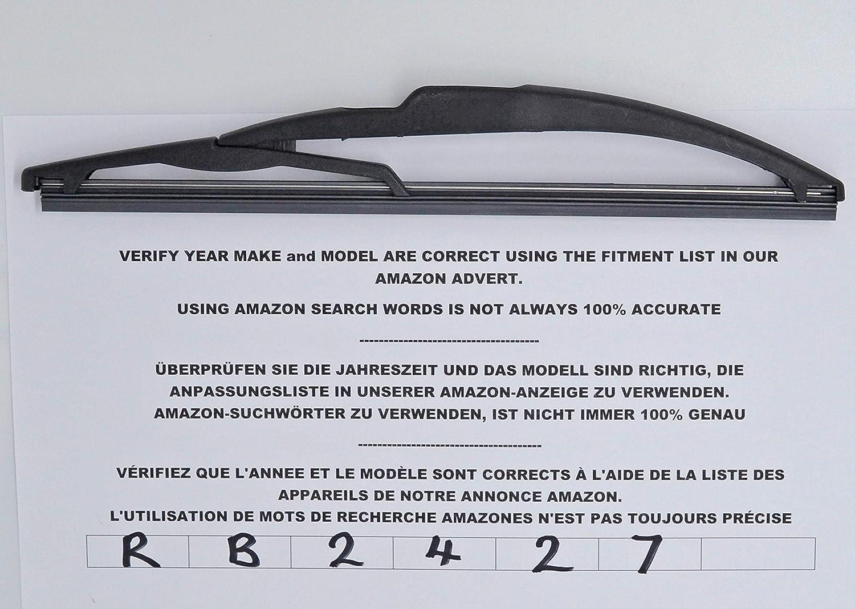 Exact Fit RB2427 - Limpiaparabrisas trasero (26 cm)