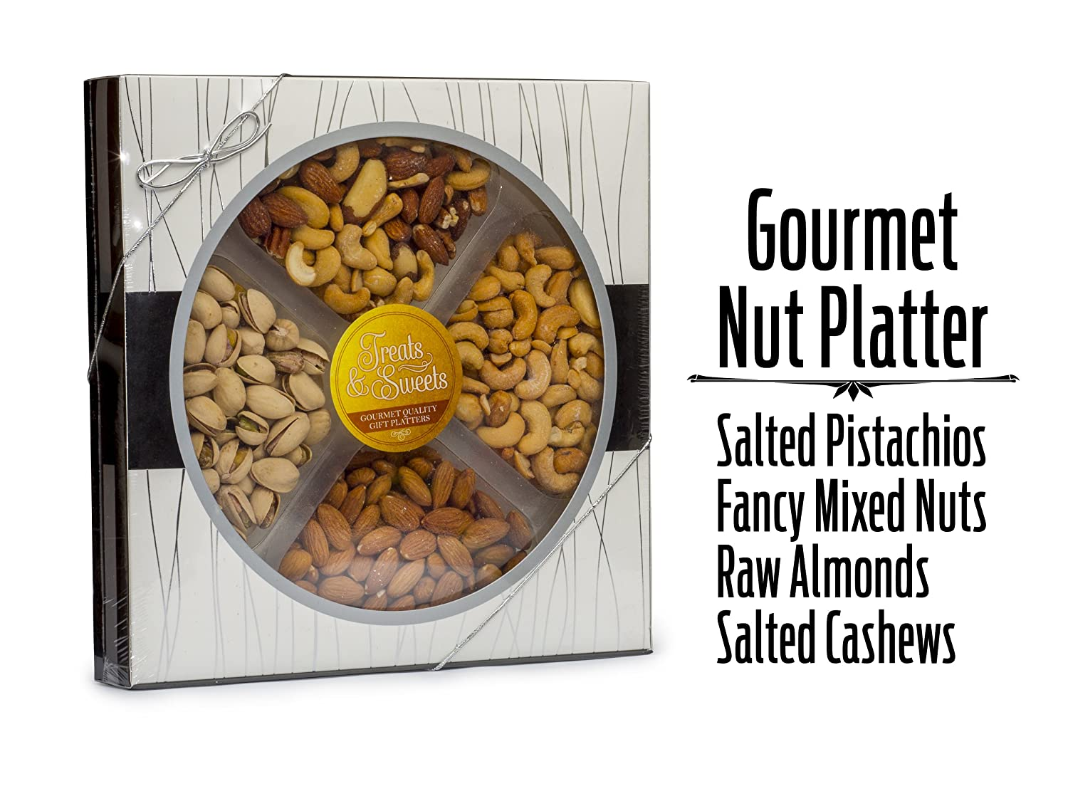 Father's Day Assorted Nuts / Fancy Salted Mixed Nuts, Large Deluxe Kosher  Salted Pistachios, Salted