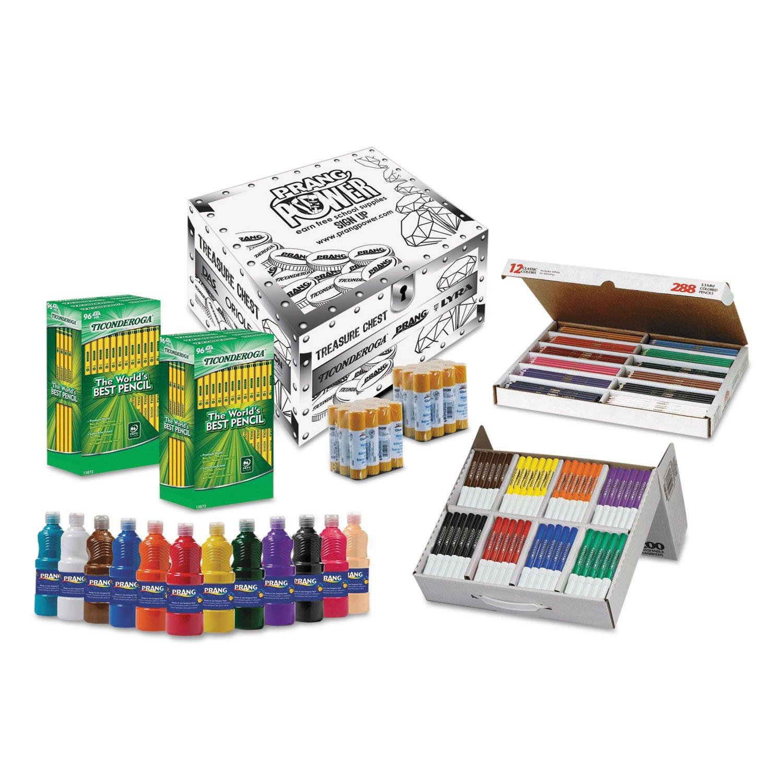 Dixon Ticonderoga Company DIX43106 Art Teacher Supply Kit, Markers-Pencils-Paint-Glue, White - 716 Pieces