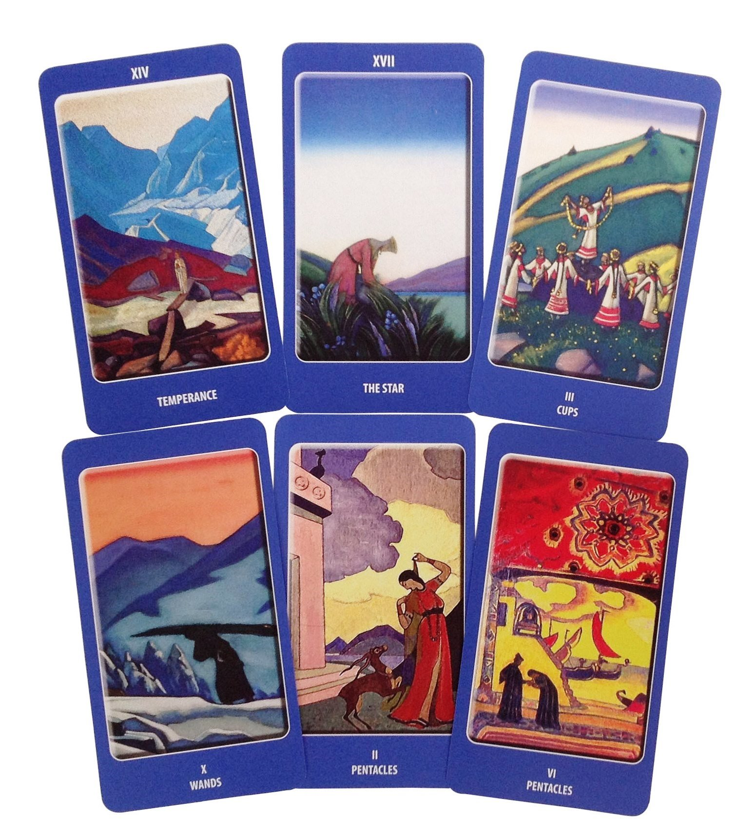 A Deeply Spiritual Tarot Deck. Agni ROERICH Tarot, English Edition. Set of 78 Cards Based on Paintings by Nicholas Roerich. A Unique Tarot Cards Deck, a Pathway to Tarot Symbolism and Meaning by Deluxe Cards (Image #2)