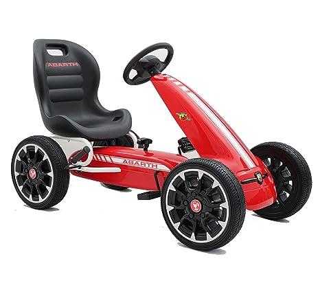 Ricco Kart a Pedales para niños, Oficial de Abarth, Ruedas de etilvinilacetato, Palanca