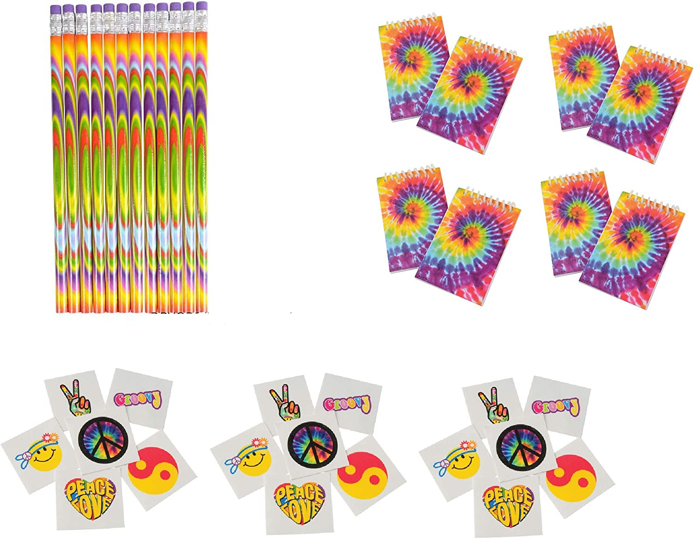 Tie Dye Groovy Rainbow 60/'s Hippie Retro Theme Birthday Party 9 oz Paper Cups