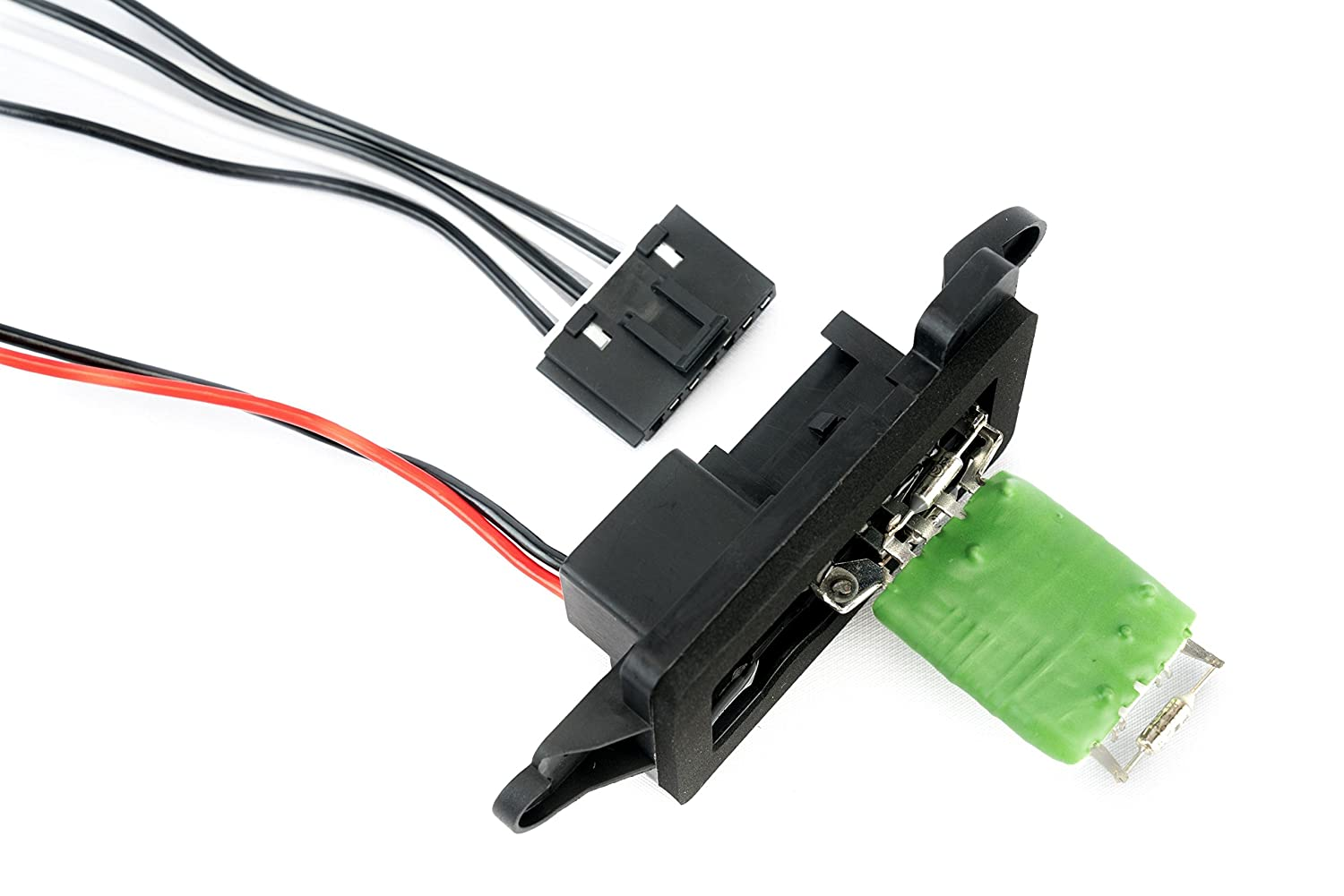 AC Blower Motor Resistor Kit With Harness - Replaces # 89019088, 973-405, 15-81086, 22807123 - Chevy Silverado, Tahoe, Suburban, Avalanche, GMC Sierra, Yukon, Cadillac Escalade - HVAC Fan Blower Motor Image
