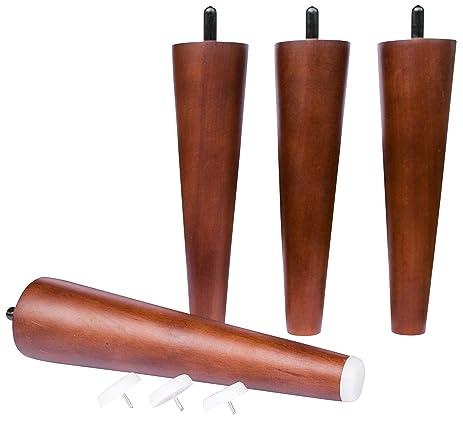 7u0026quot; Mid Century Modern Tapered Legs (Walnut Finish) ▫ Set Of Four