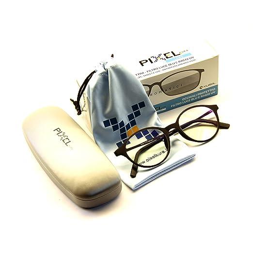 Pixel Lens PHOTOCROMIC Sunny- Gafas para Ordenador, TV, Tablet,Gaming. contra EL CANSANCIO Ocular, Confort Visual, Montura Ligera, CERTIFICADA LUZ Azul: ...