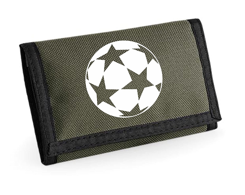 Scocer Football Star Unisex Boys Girls Ripper Wallet Money Purse (Green)