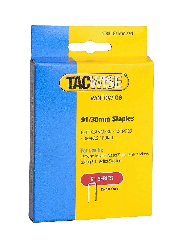 Tacwise 0768 Bo/îte de 1000 Agrafes /à couronne /étroite 40 mm Type 91