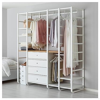 IKEA ELVARLI - 4 secciones Blanco / bambú: Amazon.es: Hogar