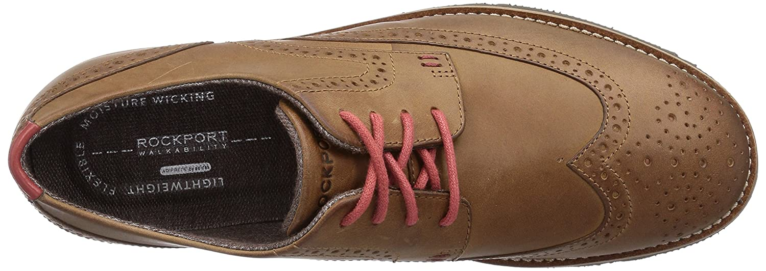 8907d29dae584 Rockport Mens LH2 WING OXFORD Brogue Lace-Up Half Shoe Brown Braun (NEW  CARAMEL) Size: 11 UK: Amazon.co.uk: Shoes & Bags