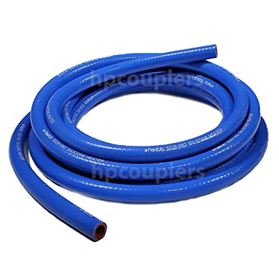 "High Performance Silicone Heater Hose - 5/8"" ID x 5 Feet Blue (.625""