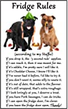 Staffordshire Bull Terrier (Staffie / Staffy) Gift - Fridge Rules - Large Fun flexible Fridge Magnet- size 16cms x 10 cms (approx. 6 x4) by Fridge Magnets