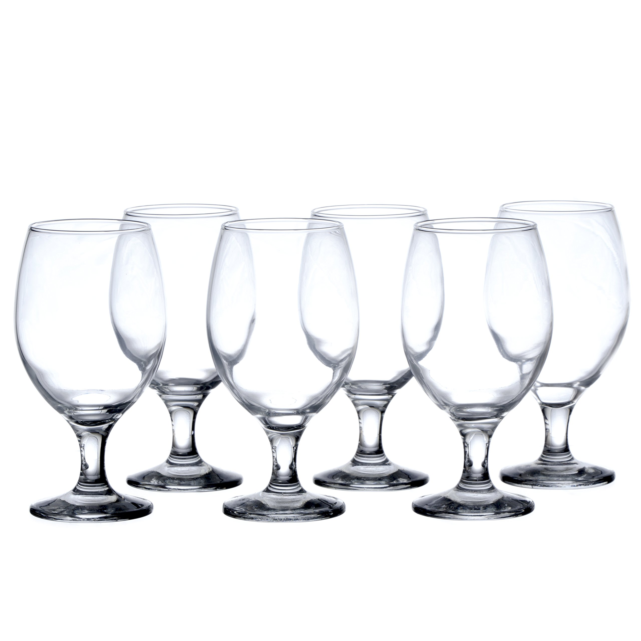 BISTRO 12-Piece Water/Beverage Glasses Set, 13.5 Oz, Durable Tempered Glass, Restaurant&Hotel Quality