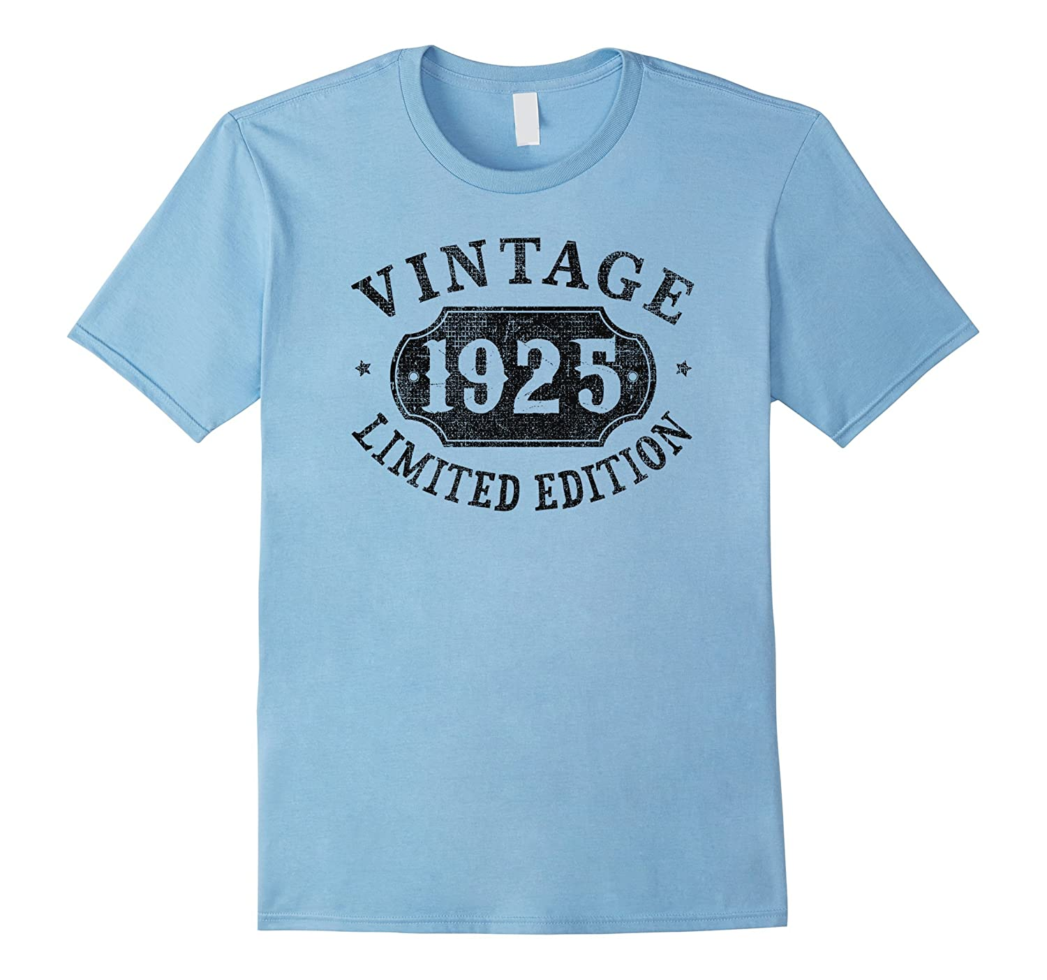 92 Years Old 92nd B-day Birthday Gift 1925 Limited T-Shirt-PL