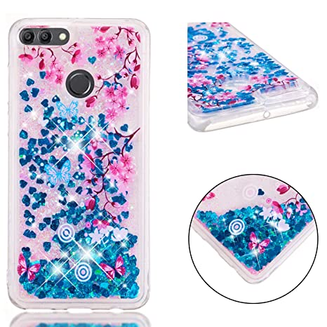 Amazon.com: Huawei Y9 (2018) Case, Bunnyfan Bling Dynamic ...