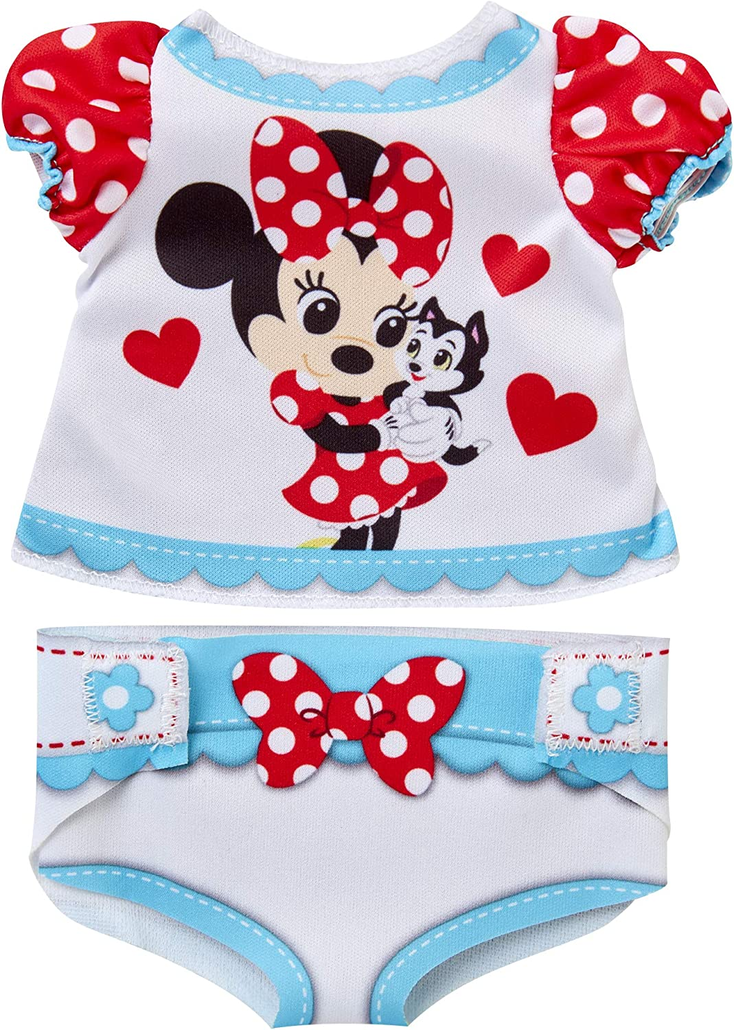Baby Doll Clothes & Accessories, My Disney Nursery Minnie Diaper Accessory Pack Inspired by Disney's Beloved Minnie Mouse! Includes Doll T-Shirt, Doll diaper Cover, Clip With Charm