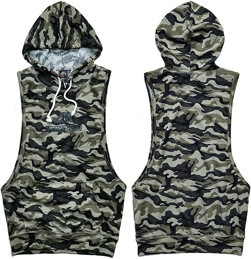 AIMPACT Muscle Tank Tops Camo Athletic Workout Shirt Weightlifting Bodybuilding Stringer Gym Sleeveless Hoodie Tank Top Men