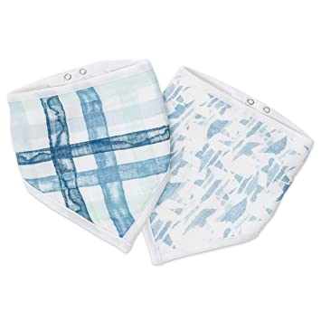 anais Bandana Bib 100/% Cotton Muslin Soft Absorbent 3 Layers aden 2 pack
