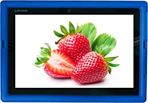 Bobj Rugged Case for Lenovo IdeaPad Miix 310 - BobjGear Custom Fit - Patented Venting - Sound Amplification - BobjBounces Kid Friendly (Batfish Blue)