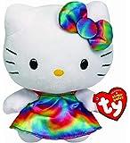 Ty Beanie Babies Hello Kitty Plush, Rainbow