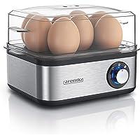 Arendo - Eierkoker roestvrij staal voor 1 tot 8 eieren - eigcooker - 500 W - controle-lamp - draaiknop voor drie…