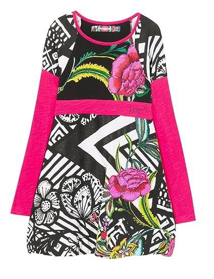Desigual Vest Porto-Novo, Robe Fille  Amazon.fr  Vêtements et accessoires 9007cee3d74f