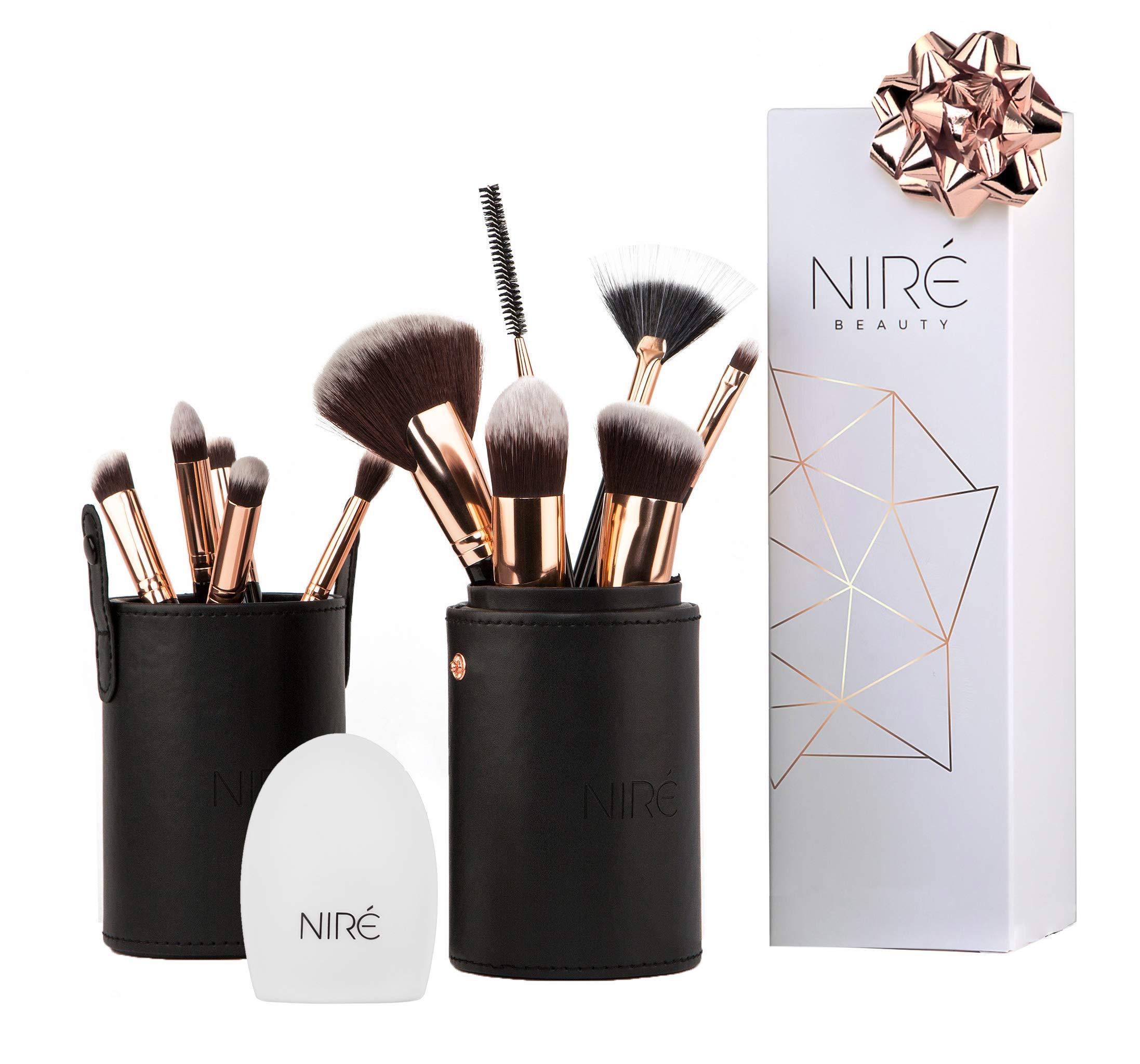 adc22f1f8 Niré Set de Brochas de Maquillaje Kabuki con Estuche y Limpiador de Brochas  product image
