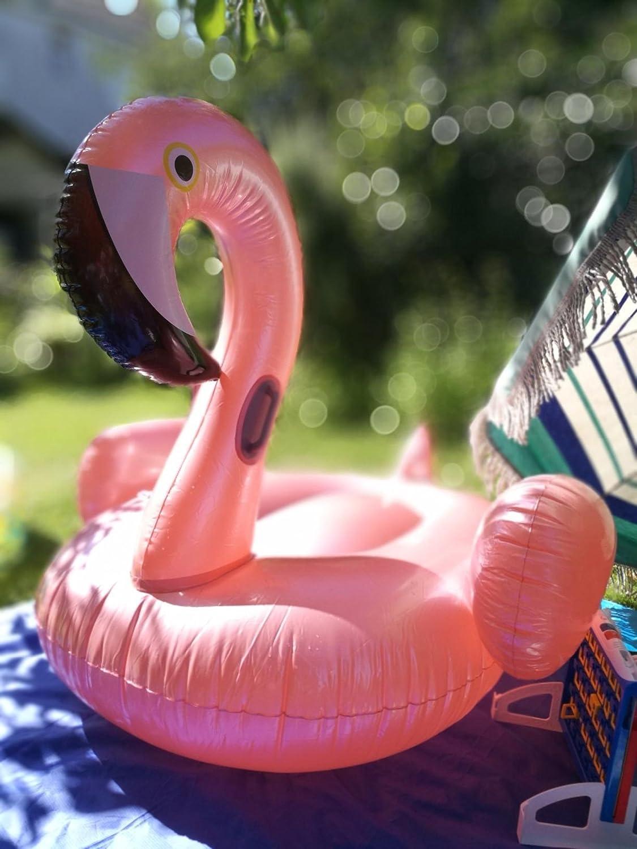 Oro Rosa Flotador inflable en forma de flamenco tamaño gigante para la piscina o playa. flamenco flotador hinchable para la piscina o la playa Flotador ...