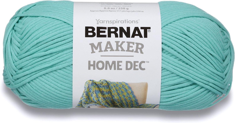 Bernat Maker Home Dec Yarn, 8.8oz, Guage 5 Bulky Chunky, Aqua